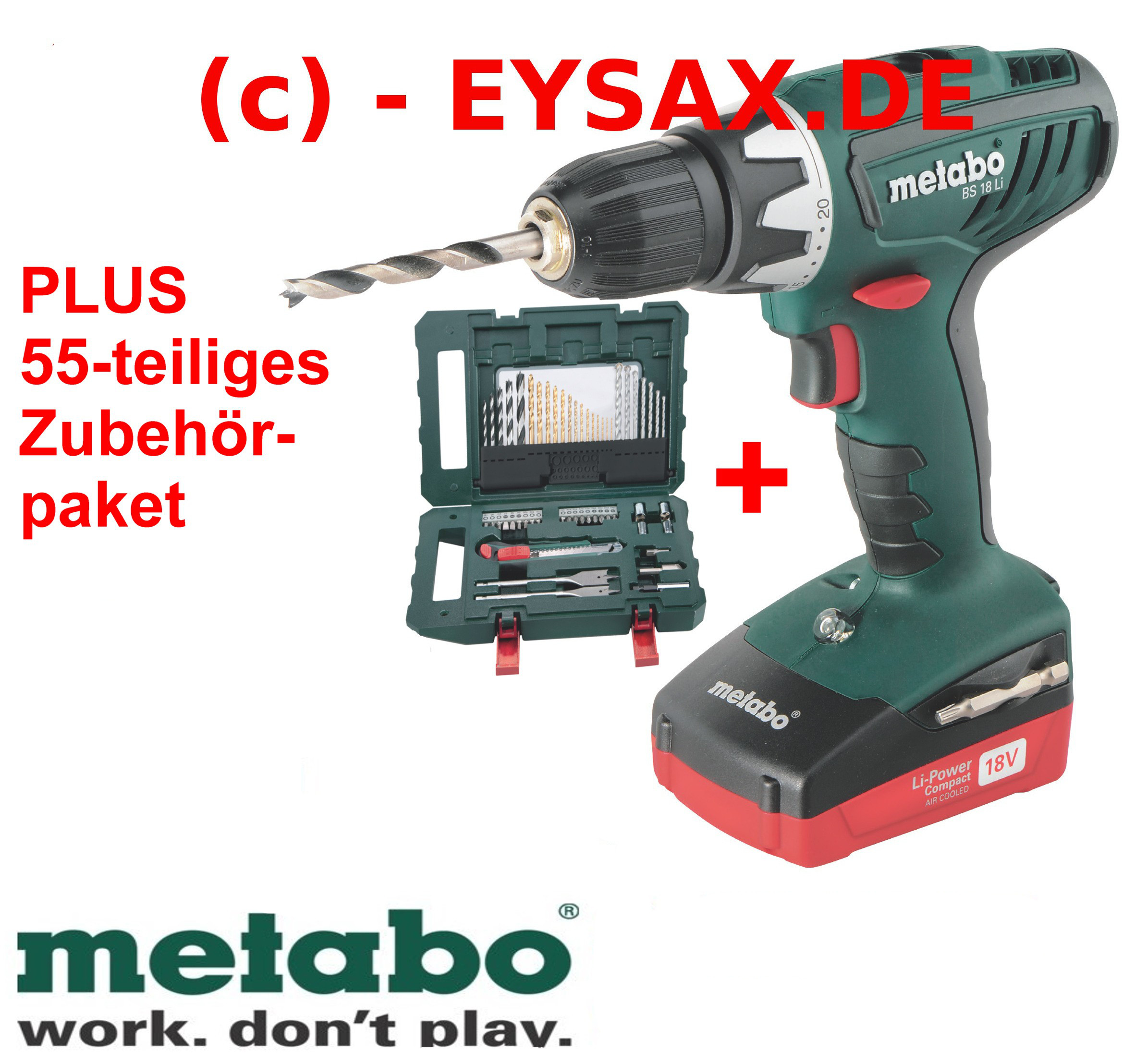 metabo akku bohrschrauber bs 18 li 2xakku koffer mobile werkstatt 18volt ebay. Black Bedroom Furniture Sets. Home Design Ideas