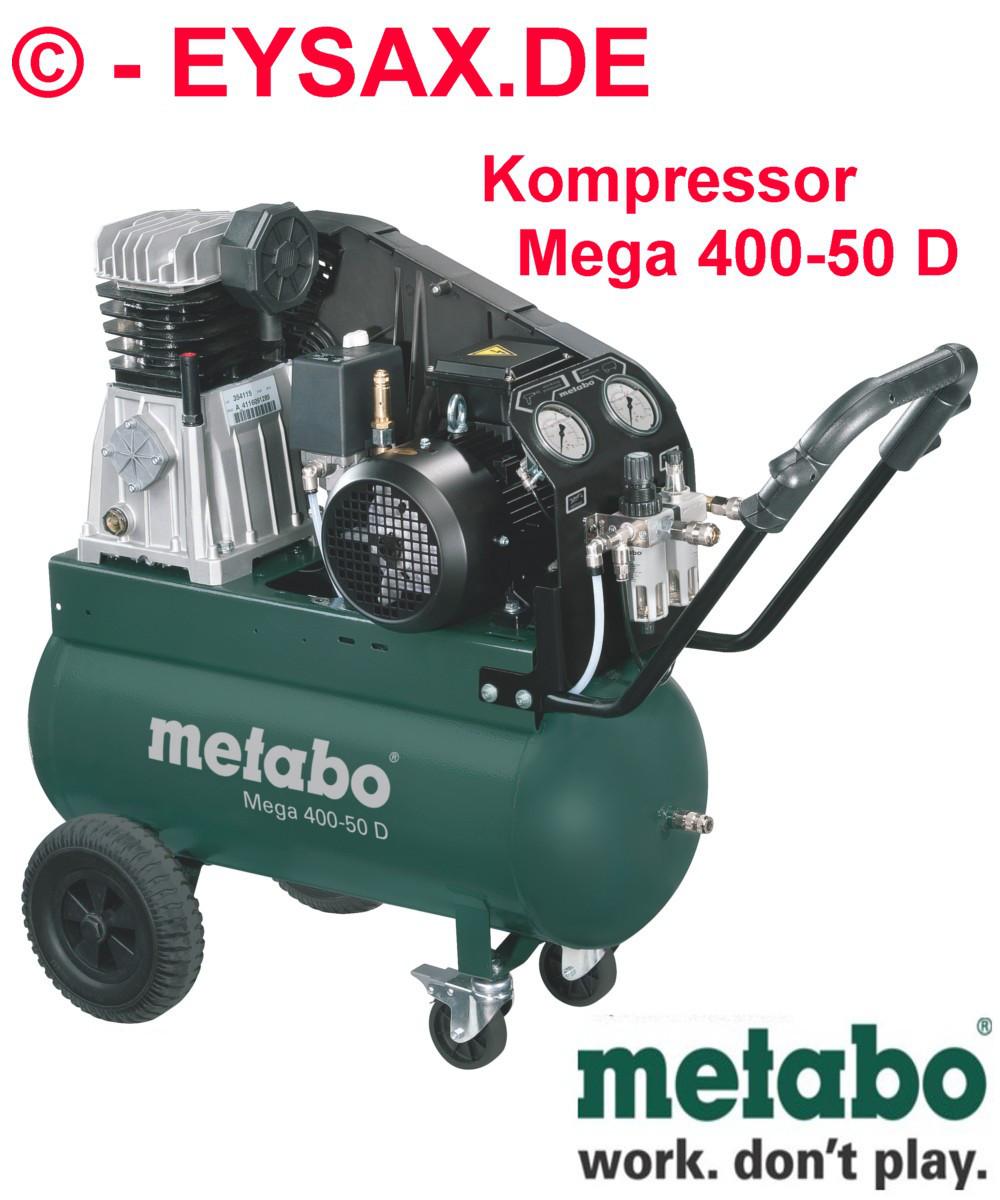 metabo druckluft kompressor mega 400 50 d drehstrom 400v. Black Bedroom Furniture Sets. Home Design Ideas
