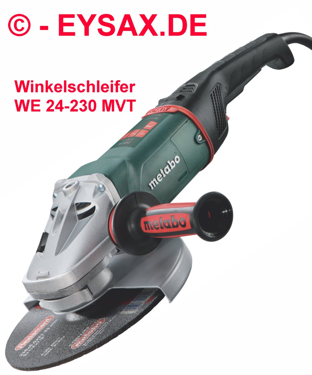 2400w winkelschleifer metabo we24 230 mvt sicherheitsschalter wiederanlaufschutz ebay. Black Bedroom Furniture Sets. Home Design Ideas